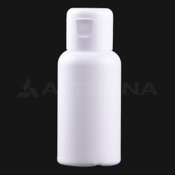 50 ml HDPE Bottle with 24 mm Flip Top Cap