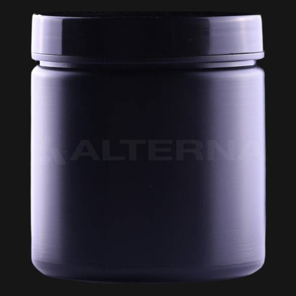 250 ml HDPE Jar with Black Cap