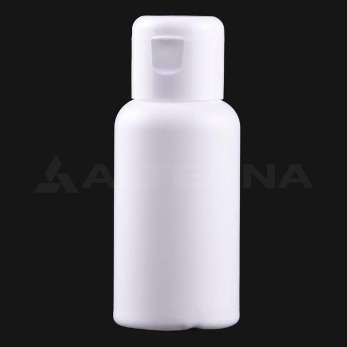 50 ml Plastik Şişe 24 mm Flip Top Kapaklı