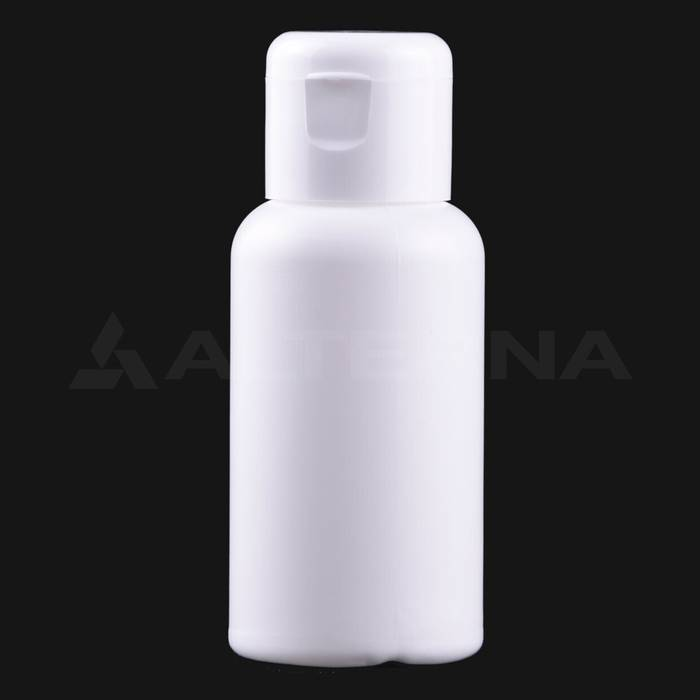 50 ml HDPE Bottle with 24 mm Flip Top Cap