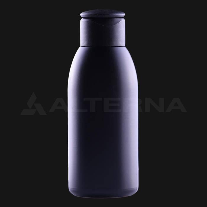 100 ml Plastik Siyah Şişe 24 mm Flip Top Kapaklı