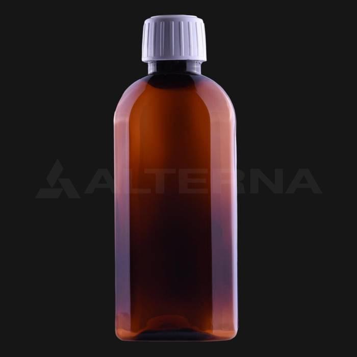 150 ml PET Flat Pharma Bottle with 25 mm Tamper Evident Cap