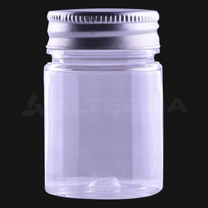 50 ml PET Pill Bottle with 38 mm Aluminum Cap