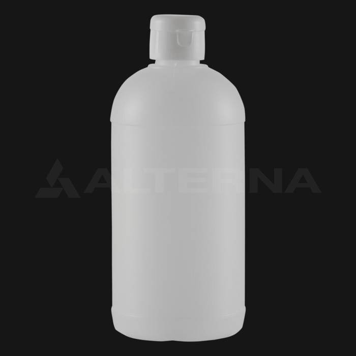 500 ml HDPE Bottle with 28 mm Flip Top Cap