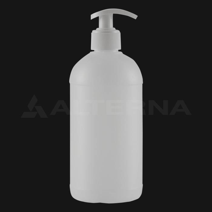 500 ml HDPE Bottle with 28 mm Pump Dispenser