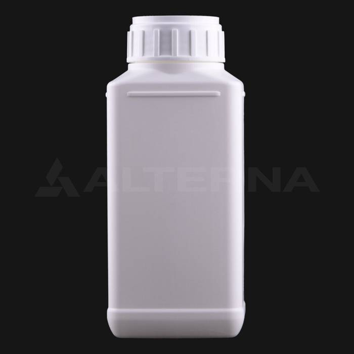 500 ml HDPE Rectangular Bottle with 50 mm Alu. Foil Seal Cap