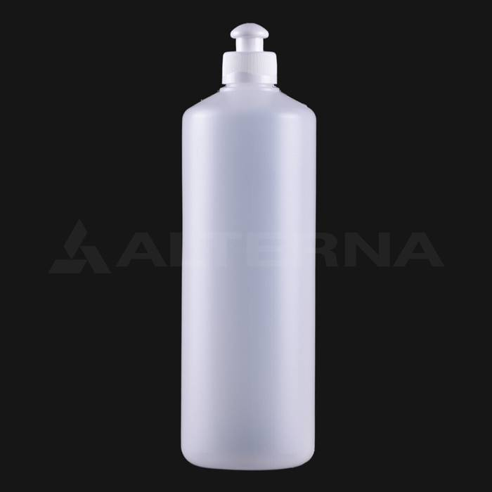 750 ml HDPE Bottle with 28 mm Push Pull Cap